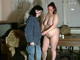 Fat mammy likes to blow young dude