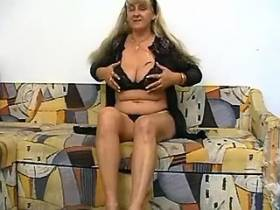 Hot grandma gets cool sex amusement