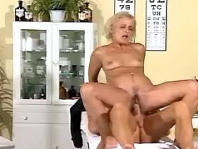 Old ugly granny gets fucked hard in doctors office