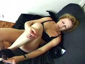 Horny mature plays with her worn body and big cunt