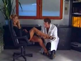 Gorgeous sensual blond milf tempting guy in office