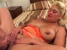 Blonde mature get hard fucked by man in all holes