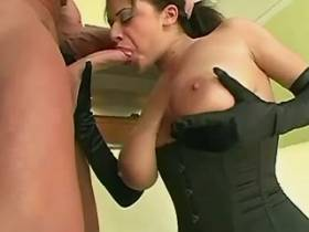 Busty beautiful milf fucking and getting creampie