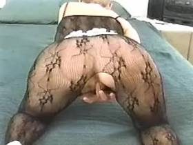 Mature sucks big black cock and gets its in pussy