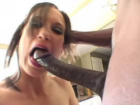 Mature gets fucked by blacky and gets cum in mouth