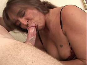 Hot chubby mature fucks in all holes and gets facial