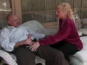 Blonde lewd mature has oral and gets cock in pussy