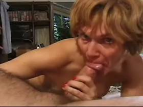 Hungry mature fucks in diff poses and gets facial