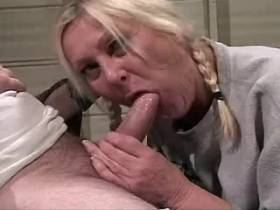 Blonde mature has hard sex in all poses and gets cum
