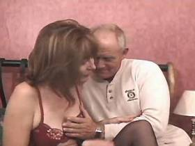 Mature sucks and jumps on cock with big pleasure