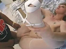 Hot mature has hard anal sex and gets fresh facial