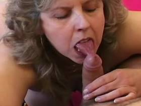 Elder lewd mature sucks big cock and has hard fuck