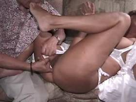 Depraved mature gets fingering and does hot blowjob